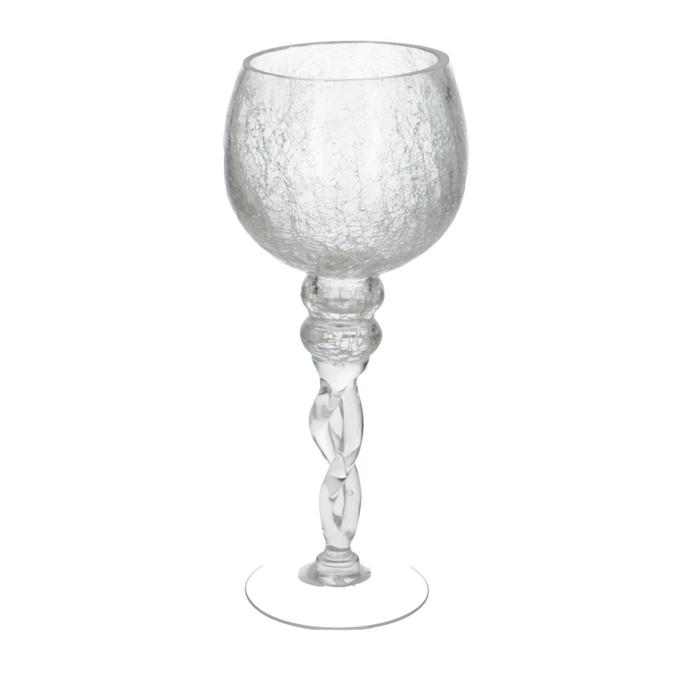 <h4>Glas Coupe crackle d13*30cm</h4>