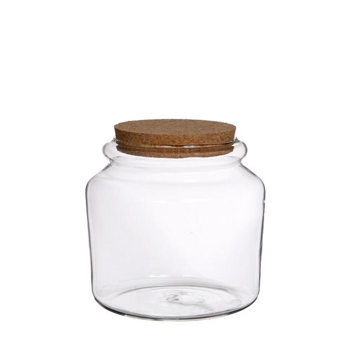 <h4>Glas Pot+kurk d15*14cm</h4>