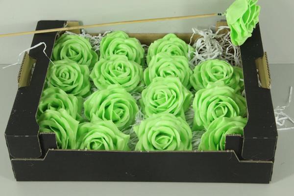<h4>Wax Rose Mint Green + Stk 30cm</h4>