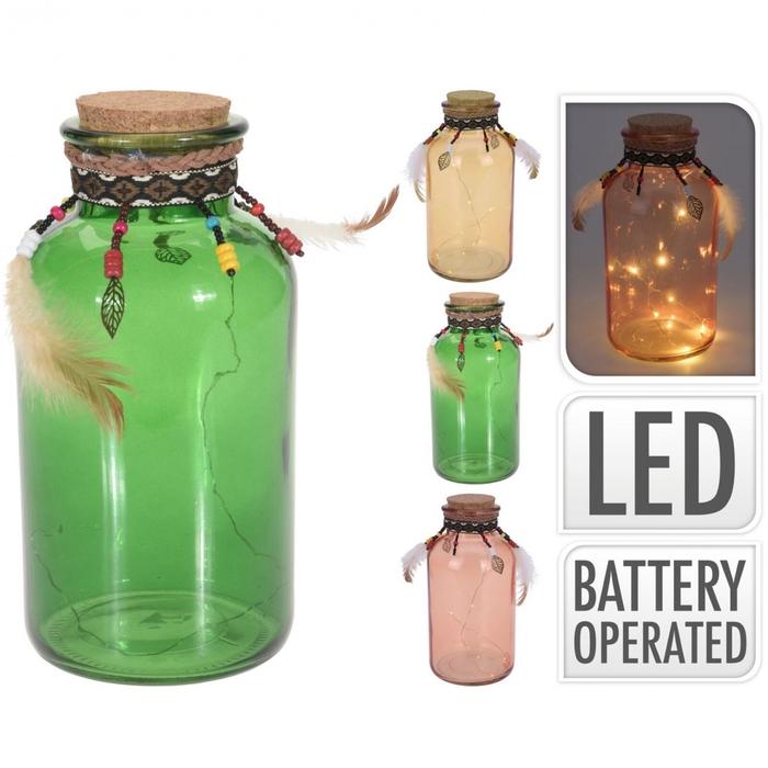 <h4>Autumn Glass pot LED d10*21cm ass</h4>