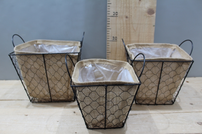 <h4>WIRE BASKET SQUARE WITH JUTE SET 3PCS ZX17A-644</h4>