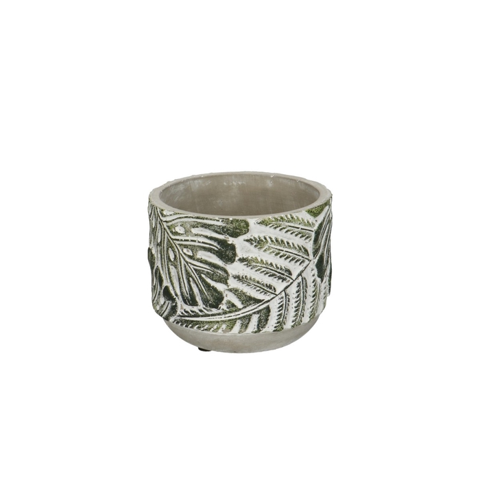 <h4>Keramiek Stone Leaf pot d10.5*9cm</h4>