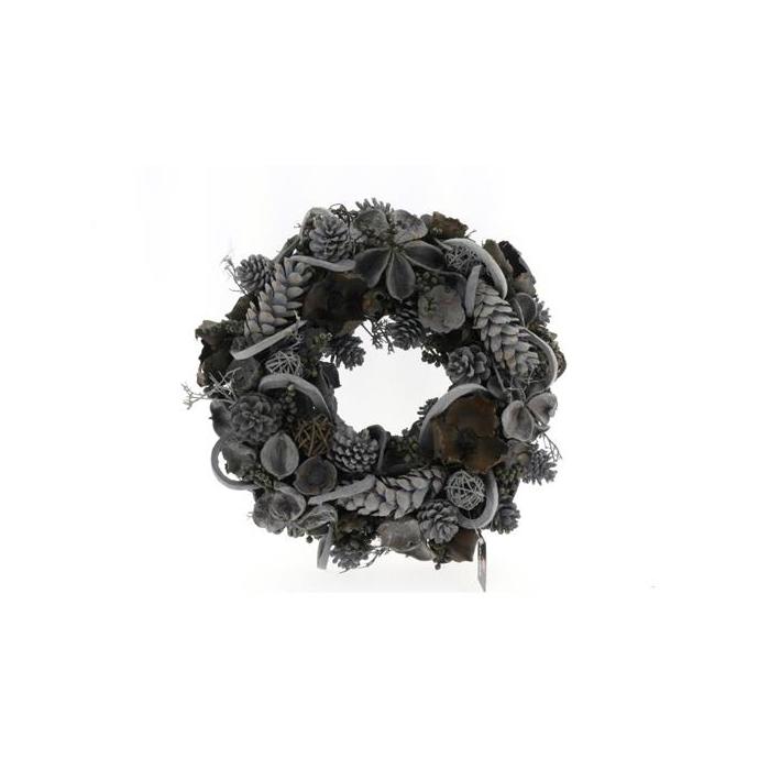 <h4>Wreath In 38cm Black 45541</h4>