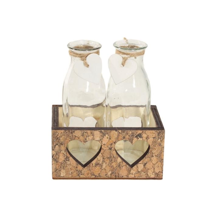 <h4>Glas Bak 2fles hart d5*14cm</h4>