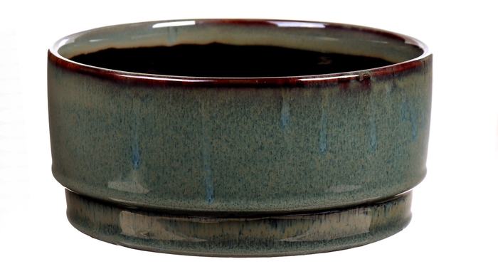 <h4>DF540262600 - Bowl Avelon d21.5xh10 green</h4>