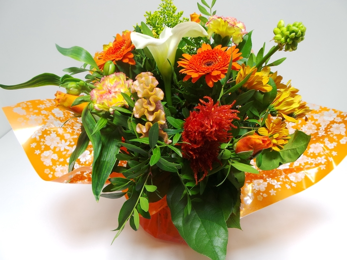 <h4>Bouquet Aqua Large Orange</h4>