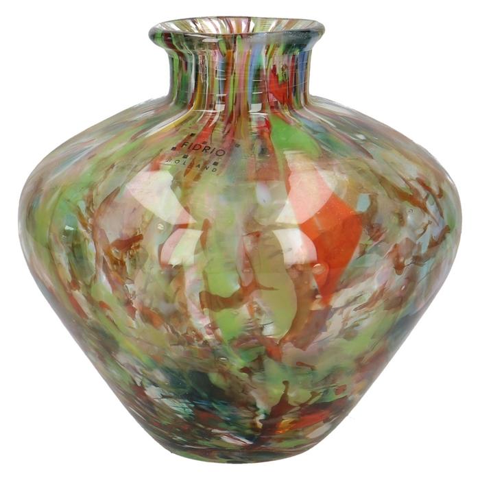 <h4>Glas Fidrio Sparcle vaas belly 15cm</h4>