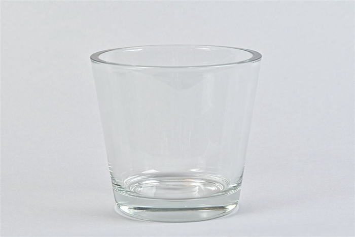 <h4>Glas Vaas Konisch Cc 14x13cm</h4>