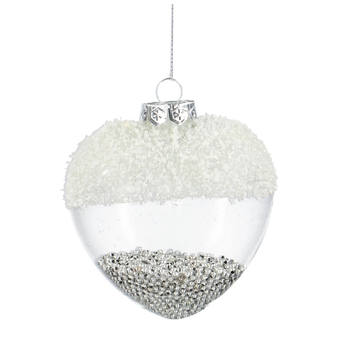 <h4>Christmas bauble Ball deco heart 90mm</h4>