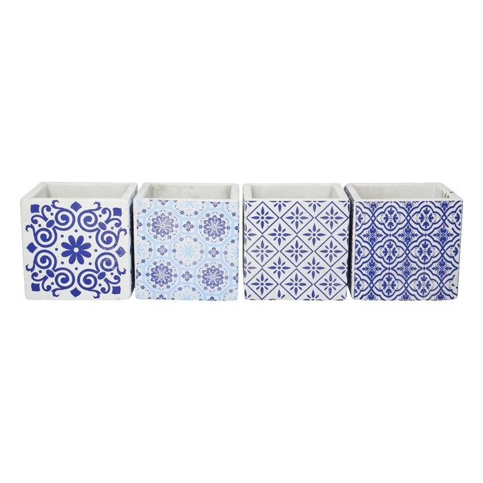 <h4>Ceramics Cube Dutch d12.5*12.5cm ass.</h4>