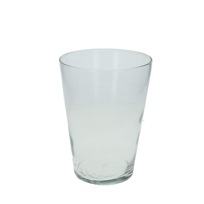 <h4>Glas Vaas konisch d13.5*19cm</h4>