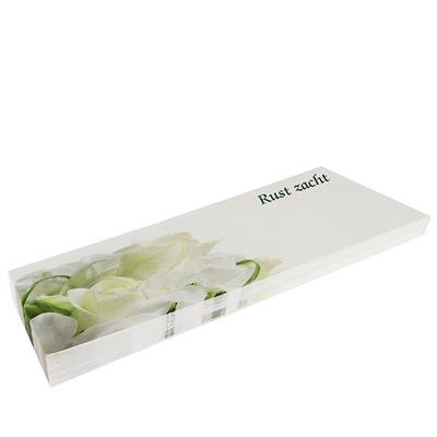 <h4>Rouwkaarten MA  groot - rust zacht pak 20st (roos)</h4>