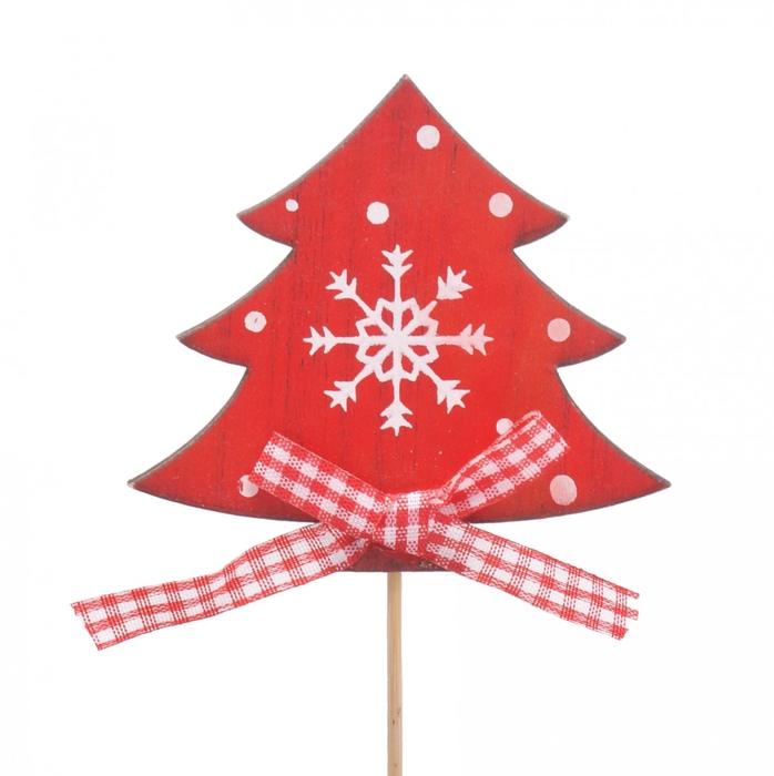 <h4>Christmas sticks 10cm Tree wood 7cm</h4>