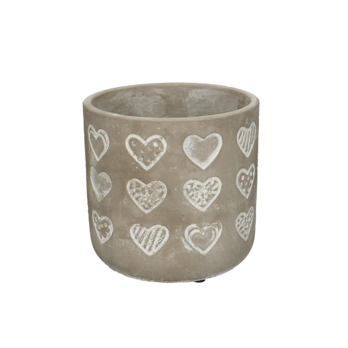 <h4>Promo Stone Hearts pot d13.5*12.5cm</h4>