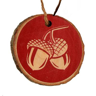 <h4>Hanger Acorn hout Ø6cm+16cm touw rood</h4>