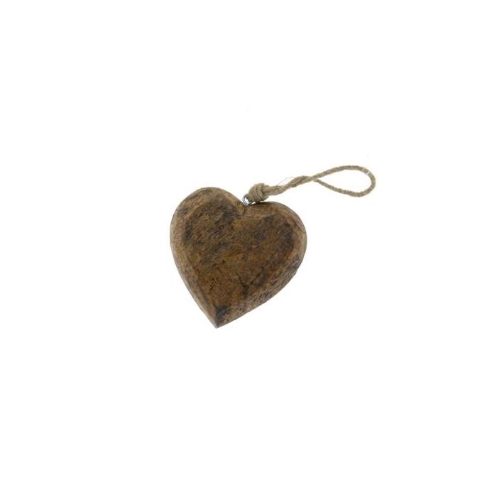<h4>Heart Wood  Hang 15cm Natural</h4>